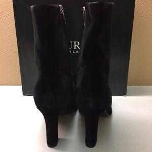 Lauren Ralph Lauren Shoes - Ralph Lauren Black Velvet Booties 8M